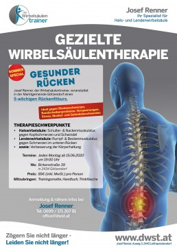 Rückenfitkurs Götzendorf Juni 2020